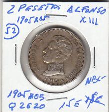 Q2620 MONEDA ESPAÑA 2 PESETAS ALFONSO XIII 1905 ESTRELLA 05 MBC-