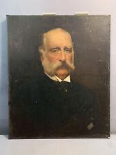 New listing 1912 Antique Edwardian Era Gentleman w Mutton Chops Beard Portrait Old Painting