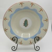 "Hartstone Confections Pasta Bowl Christmas Tree Cookie 12"" Serving USA Pottery"