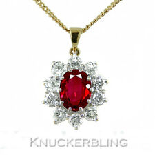 18 Carat Yellow Gold Ruby Fine Necklaces & Pendants