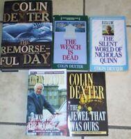 Lot 5 Colin Dexter Books Inspector Morse Mysteries