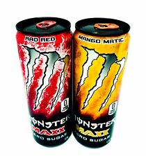 🔥NEW! Monster Energy Maxx Mango Matic/Rad Red New Releases 2 Full Cans