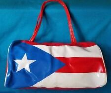 Puerto Rico Flag Roll Purse, Style Novelty Handbag Short Handle ** FREE SHIPPING