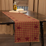 "Burgundy STAR 48"" TABLE RUNNER COUNTRY PRIMITIVE RUSTIC DECOR VHC BRANDS*"