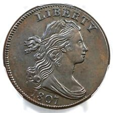 1807 S-274 R-2 Pcgs Au Details Sm Fraction Draped Bust Large Cent Coin 1c