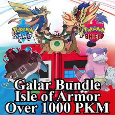 Isle of Armor Bundle 🚀 Square Shiny Gen 1 to 8 Galar Pokemon Sword Shield