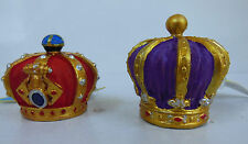 Aquarium Red King & Purple Queen Crown Decoration