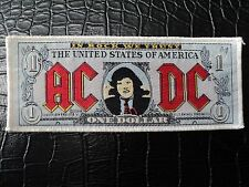 AC/DC  IN ROCK WE TRUST    STRIP  WOVEN  PATCH