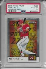 2019 Panini Prizm #NG5 Mike Trout Numbers Game Insert PSA 10