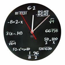 DCI Math Clock Pop Quiz Math Equations Office Classroom Wall Clock