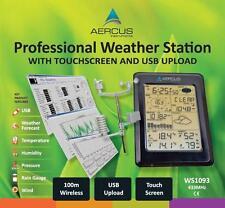 Station Météo sans Fil WS1093 avec Écran Tactile et Transfert PC par USB
