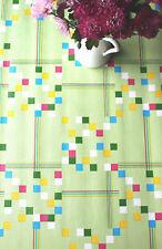 Cubo verde, in rilievo Premium Design Tovaglia in tela cerata da \ wjdhome. dimensioni: 140x300cm
