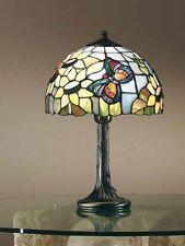 WAT LUME LAMPADA IN OTTONE BRUNITO TIFFANY MADRE PERLA