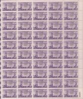 US Stamp - 1952 Newspaper Boys - 50 Stamp Sheet - Scott #1015