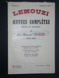 Oeuvres complètes de Chèze - LEMOUZI - poète limousin - littérature poésie