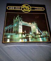 Tower Bridge England Jigsaw Puzzle 500 Piece Glow In the Dark (New)