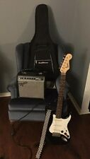 Squier Black & White Stratocaster Electric Guitar Set