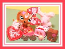 ❤️Authentic Littlest Pet Shop LPS #1010 Colorful Postcard Dachshund Dog Tattoo❤️