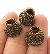 6pcs-twisted brass tone  cone  bead cap 15mmX10mm