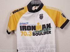 IRONMAN BOULDER 70.3 Event Cycling Bike Jersey -Yellow/White/Black -Women's XS