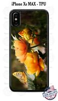 Cute Orange Butterfly Flowers Design Phone Case Cover for iPhone Samsung LG etc
