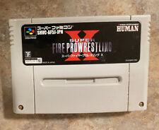 SUPER FIRE PRO-WRESTLING X Super Famincom Japanese SNES Nintendo *USA SELLER*