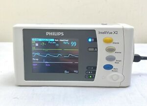 PHILIPS INTELLIVUE M3002A X2 *TOUCHSCREEN* MONITOR HANDHELD MODULE + BATTERY