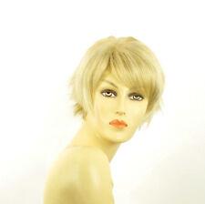 Perruque femme courte blond doré méché blond très clair  ROMANE 24BT613