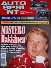 Autosprint 4 1996 Mistrei Hakkinen. Anteprima F1: ecco Jordan e Sauber SC.55