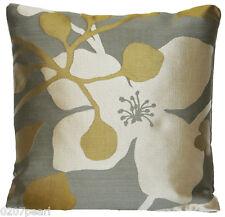 Pierre Frey Silk Cushion Cover Fabric Neuilly Bronze Grey Green Woven