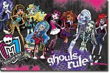 2012 MATTEL MONSTER HIGH GHOULS RULE POSTER NEW 22x34 FREE FAST SHIPPING