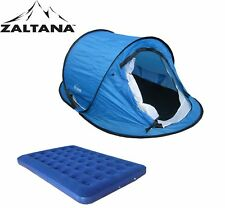 """Pop up Tent (Size: 106""""x65""""x43"""") with Double size air mattress combo"""
