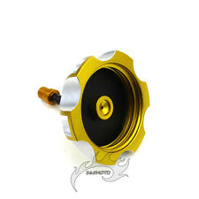 Gold CNC Fuel Tank Cap Cover For DRZ 50/70 DRZ 125 400E 400 LTR 450 2006-2009