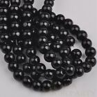 50pcs 8mm Pearl Round Glass Loose Spacer Beads Jewelry Making Black