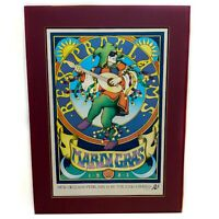 "Vintage 1983 Mardi Gras Signed & Numbered ""Rex Proclaims"" Poster Artist J Welch"
