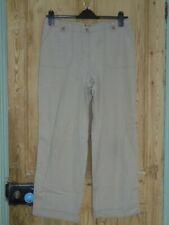 Monsoon Beige Cotton Cargo Trousers - Size 14