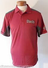 NWT Majestic Arizona Diamondbacks Mens Victory Anthem Polo Shirt L Sedona $50