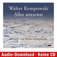 Hörbuch-Download (MP3) ★ Walter Kempowski: Alles umsonst