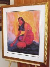"Constantine Cherkas "" Indian Girl "" Hand Signed Newly Framed Modernist"