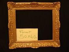 Cadre Louis XV bois et stuc doré à clé ancien F.9