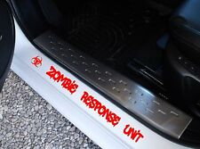 zombie response unit 4x4 door sill pair ute Car Stickers 400mm