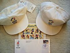 ATLANTA 1996 OLYMPIC GAMES. 2 BASEBALL CAPS, 20 UNUSED STAMPS, & FIRST DAY ISSUE