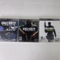 Call of Duty Black Ops 1, Mw3 Ghosts PS3 Playstation 3 Bundle FREE SHIPPING
