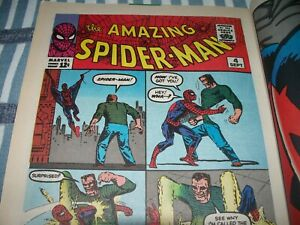 The AMAZING SPIDER-MAN #4 Sandman Reprint in Spider-Man Classics #5 from 1993 NS