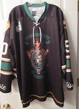 Lambda Chi Alpha XL Green, Gold, Purple, Black 5ivehole Lace Up Hockey Jersey EU