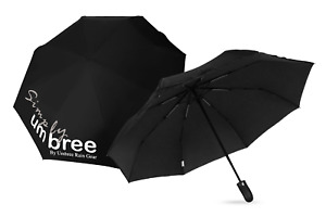 Simple Umbree 46 Inch Large Windproof Folding Umbrella W/ Rubber Gripped Handle