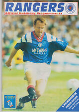 Programme / Programma Glasgow Rangers v Kilmarnock 28-08-1993