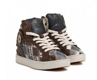 BARONS PAPILLOM Sneakers Shoes Schuhe Leder Leather braun blau Gr. 37 NEU BOX!