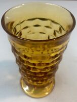 1 Indiana Ice Tea Glass Whitehall Amber Cubist Footed Vintage Goblet