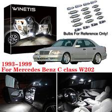10Pcs White Interior LED Light Kit For 1994-1999 Mercedes Benz C class W202 M